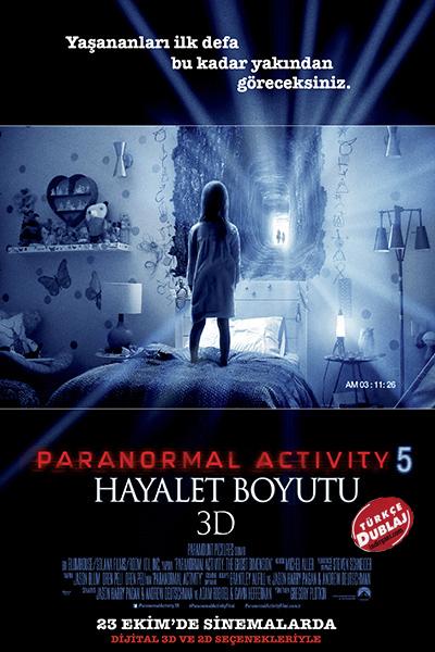 Paranormal Activity 5: Hayalet Boyutu | 2015 | BDRip XviD | 700 MB | Türkçe Dublaj