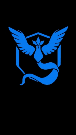 Pokemon Go Team mystic black blue logo Iphone hd wallpaper