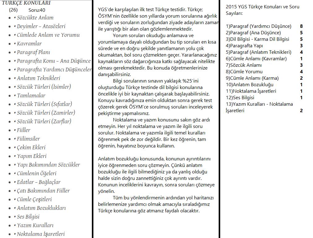 ygs-türkçe - MehmetKYGSZ