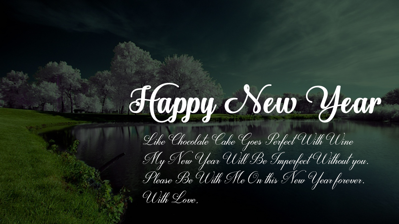 Happy new year with love wish - Wallect