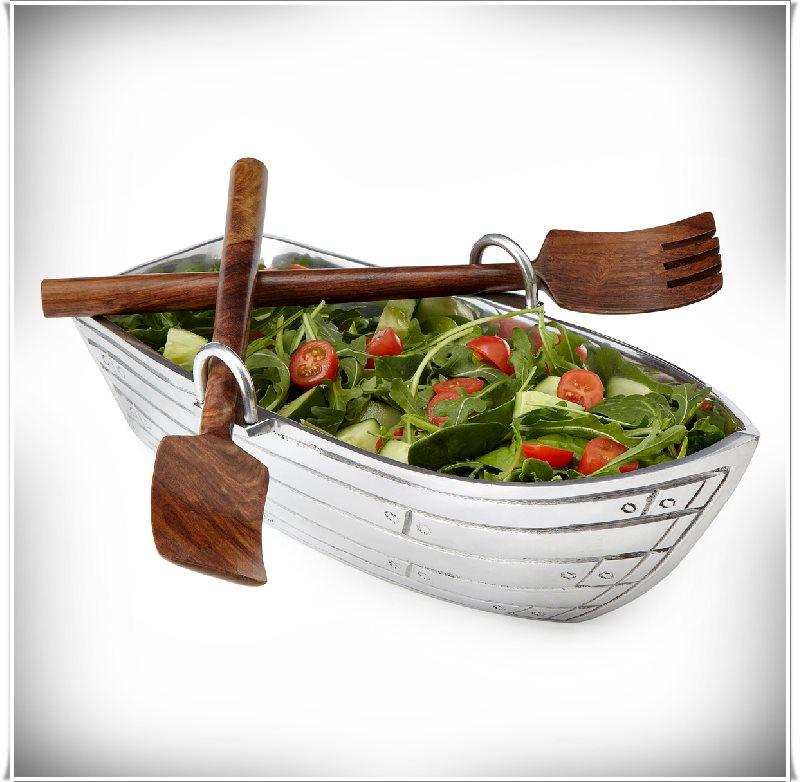 sandal şekilli salata tabağı