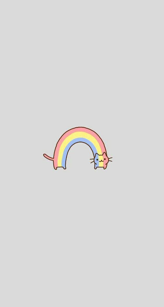 rainbow-shaped cat