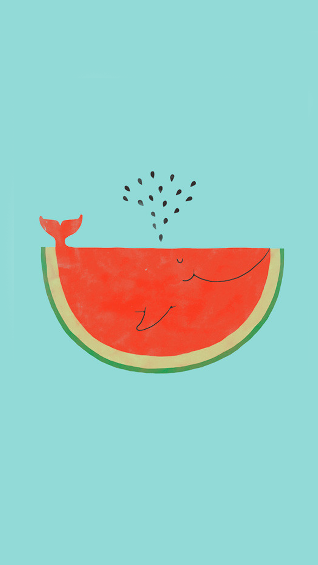 whale-shaped watermelon slice