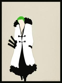 roronoa_zoro_walking_in_the_snow____by_luminoz-d5tears