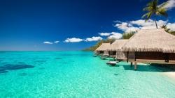 tropical bungalov summer beach