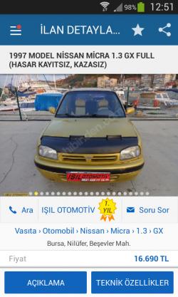 IŞIL OTOMOTİV SAHİBİNDEN. COMDA..